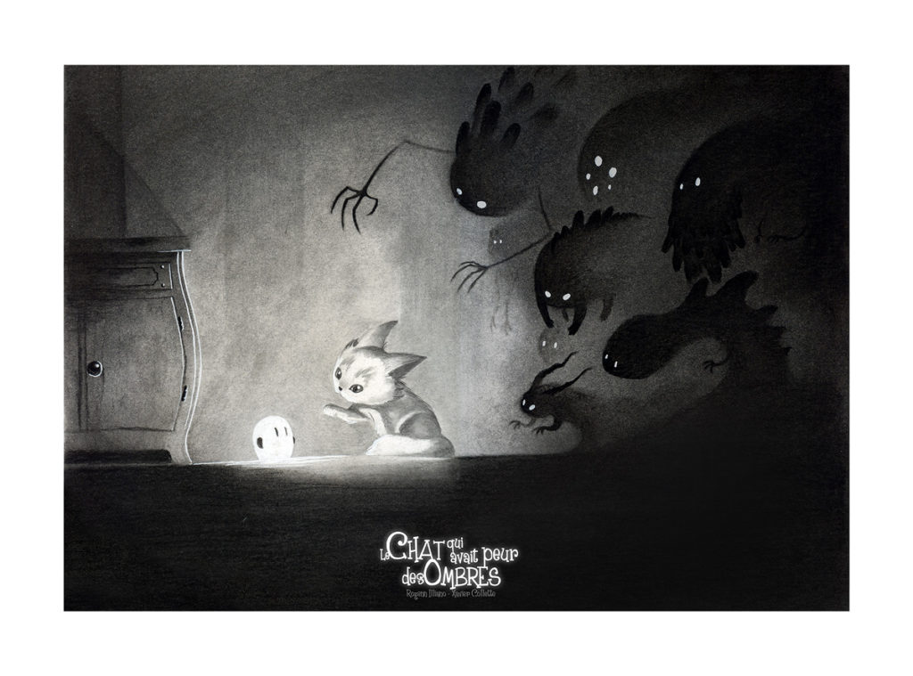 Illustration - Le chat qui avait peur des ombres