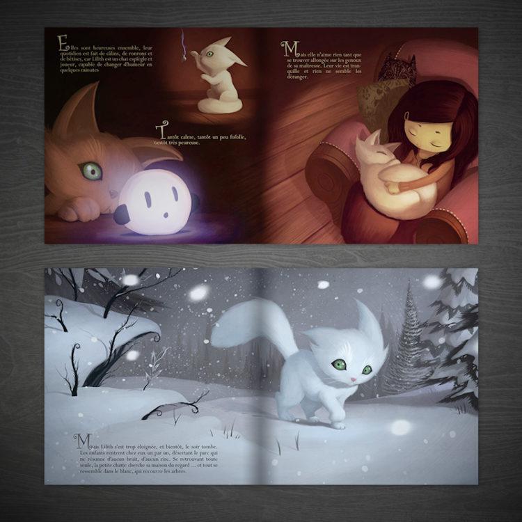 Le chat qui avait peur des ombres - pages intérieures