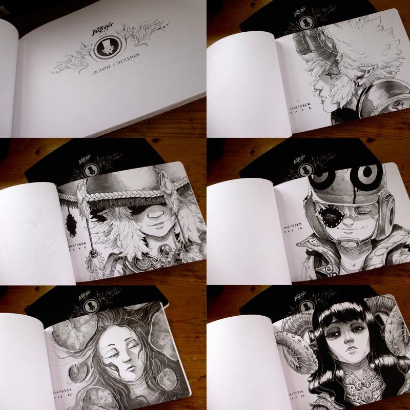 inktober 2015 - pages intérieures