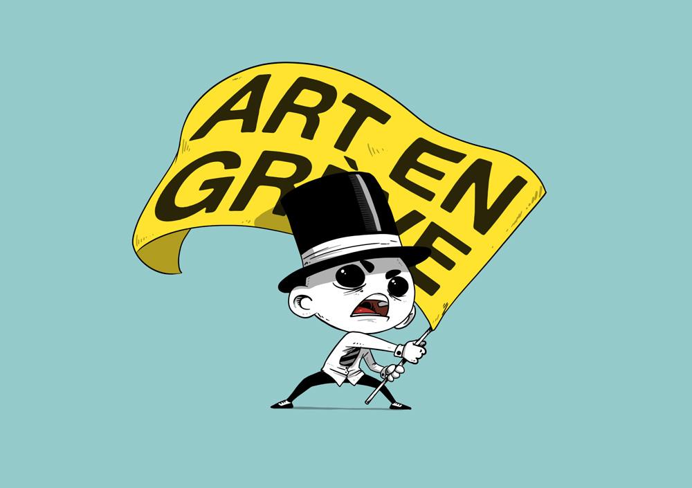 "Illustration ""Art en grève"""