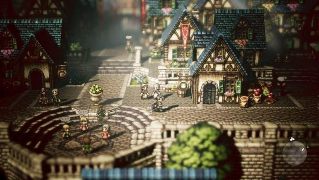 Screenchot d'Octopath Traveler